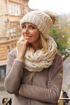 04e108d0851c1 knit slouchy beanie knitted hats for women and knitted scarf circle scarf  knit chunky cowl handmade from Italian alpaca and sheep wool