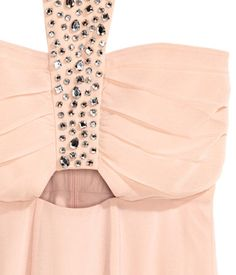 Crêppad långklänning | Puder | Ladies | H&M SE