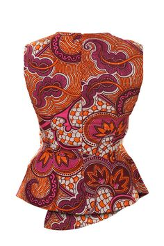 Retro Print Peplum Top