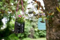 Hanging Planters Made from Recycled Bottles