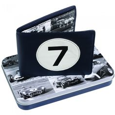 Stirling Moss wallet on tin
