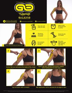 GO Tape Application Instructions for Bicep #bicep #Stoppainful #ktape