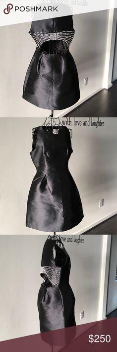 Kate Spade Black Embellished Bow Back Bubble Dress Kate Spade Black Embellished Bow Back Bubble Dress with a mid open Back. kate spade Dresses