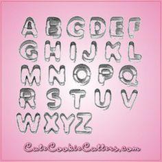 Mini Alphabet Cookie Cutter Set - $20 from cheapcookiecutters.com