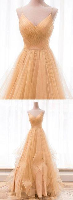Tulle A Line Prom Dress, Sexy Spaghetti Straps Long Evening Dress, Prom Dresses . Tulle A Line Pro A Line Prom Dresses, Tulle Prom Dress, Day Dresses, Strapless Dress Formal, Dresses Online, Prom Gowns, Mesh Dress, Elegant Dresses, Pretty Dresses