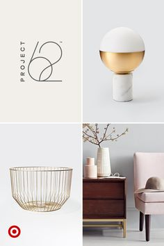 Blush is the new neutral, and we're loving this soft pink on everything from slipper chairs to vases, throw pillows and bedding. Pair this hue with brass accents for a subtle, sophisticated color combo that's clean and modern yet warm and inviting. Project 62, only at Target.
