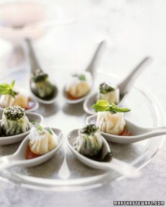 These dumplings make elegant hors d'oeuvres when served in individual Chinese soup spoons. Fill them with broccoli rabe or stuff them with ricotta, Parmesan, prosciutto, and parsley.