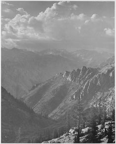 Middle Fork at Kings River Canyon, California by Ansel Adams