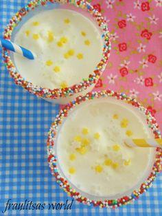 milkshake: milk and vanilla ice Milkshake, Cheeseburger Chowder, Vanilla, Soup, Sweets, Ice, Smoothie, Gummi Candy, Candy