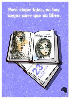 Cartel realizado por una alumna del bachillerato de arte del IES Hermenegildo Lanz