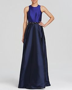 ML Monique Lhuillier Gown - Color Block