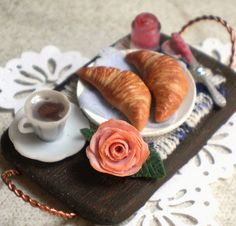 Miniature Morning Tray with Croissants