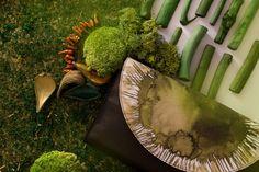 Bolso de piel verde artesanal edición limitada