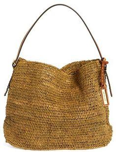 Michael Kors 'Santorini' Raffia Hobo on shopstyle.com.  Time for that killer designer sale season!