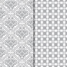 Digital Paper Pack Retro & Vintage Dark Grey on White - Gidget Designs  - 1