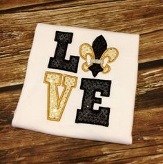 Fleur De Lis LOVE Shirt  Saints Football Fall by TutuKute on Etsy, $24.00