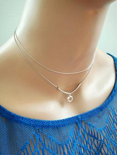Check out this item in my Etsy shop https://www.etsy.com/listing/512034537/layered-silver-choker-necklacecharm