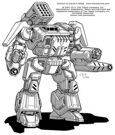 I know you've all been waiting for this one It was a real honor to be given this assignment. It's not every day that you get to re-design such a classic mech! This was made for the recent Catalyst ...