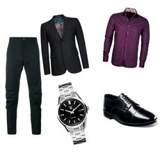 """""""9"""" by eminblazevic on Polyvore featuring Nunn Bush, Lanvin, Stone Rose, Ted Baker, TAG Heuer, men's fashion and menswear"""