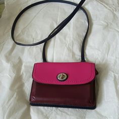Coach mini leather  crossbody bag Cute crossbody bag, in excellent condition have only used once. Coach Bags Crossbody Bags
