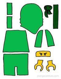 Lego Ninjago printable cutout for toddler gluestick art: The Green Ninja, Lloyd - Birthday - Kinder Ninja Birthday Cake, Lego Birthday Party, Boy Birthday, Lego Ninjago Cake, Ninjago Party, Ninjago Kai, Lego House, Printables, Lego Minecraft