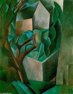 Acheter Tableau 'maison a jardin 1' de Pablo Picasso - Achat d'une reproduction sur toile peinte à la main , Reproduction peinture, copie de tableau, reproduction d'oeuvres d'art sur toile
