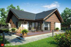 Projekty domów - Projekt domu parterowego WINSTON - wizualizacja 2
