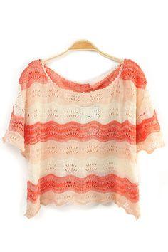 Color Block Short Sleeve Sweatshirt