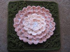 Crochet Patterns Afghans Mum In Treble Afghan Square Crochet pattern by Julie Yeager Crochet Fall, Love Crochet, Crochet Motif, Hand Crochet, Knitting Yarn, Knitting Patterns, Crochet Patterns, Crochet Ideas, Yarn Winder