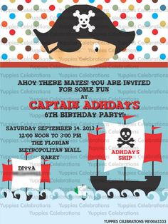 Baby Pirate Invite