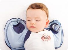 Sleepy Wings--what an innovative alternative to swaddling! Baby stays cool in the summer, but can also be worn with a sleep sack.