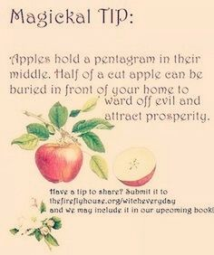 Magickal Tip Apple Healing Spells, Wiccan Spells, Pagan Witch, Witches, Easy Spells, Hoodoo Spells, Spells For Beginners, Eclectic Witch, Kitchen Witchery