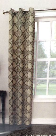 Window Curtain Panel Grommet 40 x 84 inch Interiors by Design New