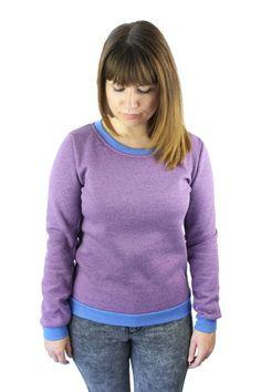 Sweatshirts - Sweat Pullover aubergine - ein Designerstück von JAQUEEN-handmade-streetwear-berlin bei DaWanda