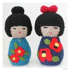 Japanese Amigurumi Doll Patterns : Crochet - Japanese Dolls ! on Pinterest Kokeshi Dolls ...