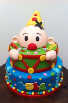 Bumba clown / cartoon cake made with fondant. Inspired by taaartjes, made by creatief cadeau.