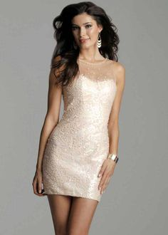 $278.00 Clarisse 2040 is a short sequin and tulle cocktail dress that really sparkles - Dresses from Rissy Roo's