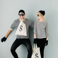 Halloween Costumes for You! 10 Looks You can Pull Together in 5 Minutes or Less. This robber look is so cute and well put together, especially for being cheap and easy!