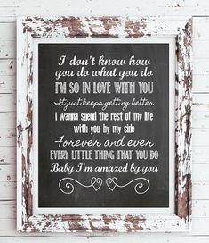 AMAZED Lonestar Song Lyric Quote Digital Faux Chalkboard Design Typography Art Print - No Frame