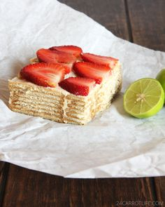 Mexican Lime Icebox Cake - takes just like cheesecake but no baking required!