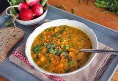 Beans Soup / Vegan ( Polévka ze žlutého hrášku, s batáty, mrkví a kari ) Raw Vegan, Vegan Vegetarian, Vegetarian Recipes, Bean Soup, Cruelty Free, Food Inspiration, Soup Recipes, Healthy Living, Beans