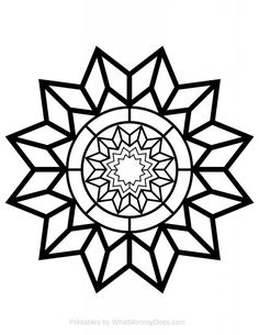 Have you seen this site's coloring pages for adults? So many patterns to choose from! Here's a pretty, relaxing DETAILED STAR DESIGN. I think it's the perfect coloring sheet for kids AND grown ups. It's so pretty & unique - you can print out as many as you like. Pinning this for later for sure.
