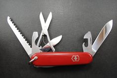 Vintage Swiss army knife Victorinox HUNTSMAN with BAIL- EXCELLENT condition! by HobieonEtsy on Etsy