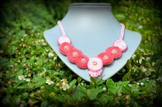 Colours of Jasika #handmade #necklace #soutache #pink #gold #rosequartz
