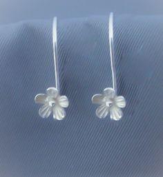 Sterling Silver Earring Hook Findings Flower by JewelryArtSupply