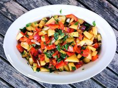Peach and Roasted Red Pepper Salsa