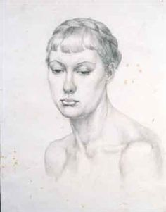 Study of a young woman's head John Luke, Young Women, Study, Artist, Artwork, Studio, Work Of Art, Auguste Rodin Artwork, Artists