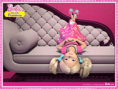 Chelsea thinks she's a monkey #Barbie