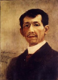 Self- portrait of Felix Resurrecion Hidalgo by Felix Resurrecion Hidalgo Felix Resurrecion Hidalgo He was an important man in the history of the Philippines. He was an acquaintance of the members of. New Artists, Great Artists, Manila, Self Potrait, Self Portrait Artists, Jose Rizal, Filipino Art, Philippine Art, American Pride