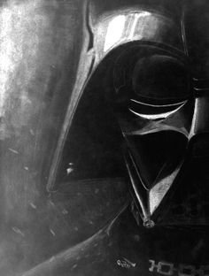 A drawing that has been in progress for a while. This is another one of my inverted drawings just like the batman and bane ones. For the uncultured people reading this post, the drawing is of Darth Vader from the Star Wars series. I drew it in ~5 hours (spent far more time trying to get the textures to work out in a sample before deciding that my paper is too rough to get a completely smooth texture) on a sheet of 8 x 11 sketch paper with 9H-4B Derwent Graphic pencils.